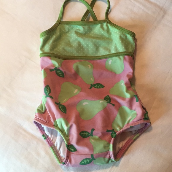 925a40acf4 I Play Other - Baby girl swimsuit w/attached swim diaper